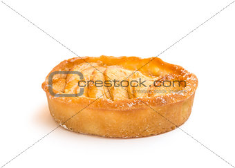 Apple tart isolated on white background