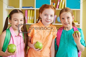 Group of schoolgirls