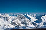 Ski resort of Neustift Stubai glacier Austria