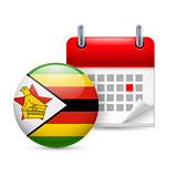 Icon of National Day in Zimbabwe