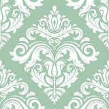 Damask Vector Classic Pattern. Seamless Vintage Background