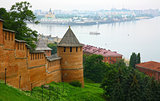 Summer view of Kremlin Nizhny Novgorod