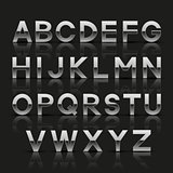 Decorative silver alphabet