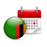 Icon of National Day in Zambia