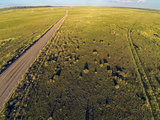 Colorado prairie aerial view