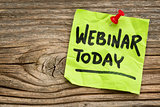 webinar today reminder note