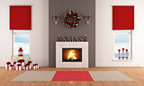 Modern Christmas living room