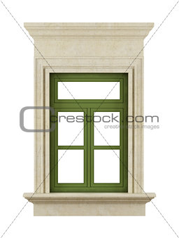 Classic windows on white