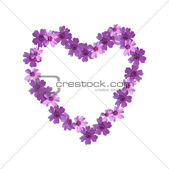 Floral ornament in the form of heart.