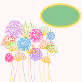 Colorful Hydrangea Flower Garden Party Background