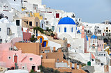 houses of oia on greek island santorini