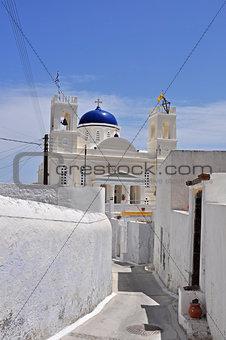 greek orthodox church on greek island santorini