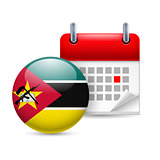 Icon of National Day in Mozambique