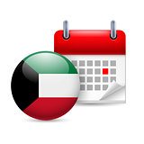 Icon of National Day in Kuwait