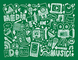 doodle media background
