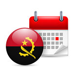 Icon of National Day in Angola