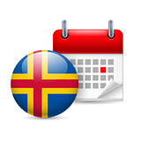 Icon of National Day on Aland Islands