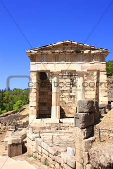 Athenian treasury, Delphi, Greece