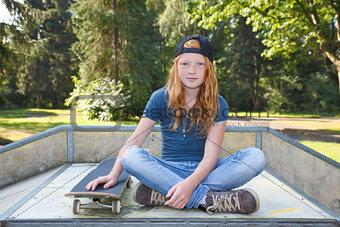 Skateboard girl