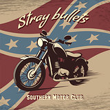 Retro motorcycle club poster