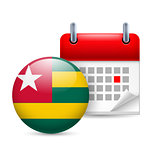 Icon of National Day in Togo