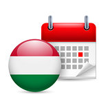 Icon of National Day in Hungary