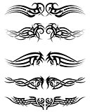 Set tribal tattoos