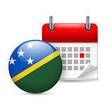 Icon of National Day in Solomon Islands