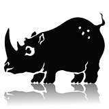 silhouette of rhinoceros