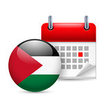 Icon of National Day in Palestine