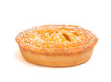 Stuffed tart on white background