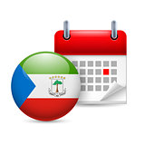 Icon of National Day in Equatorial Guinea