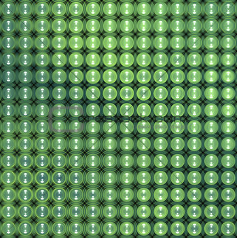 3d glossy abstract tiled bubble background in green blue