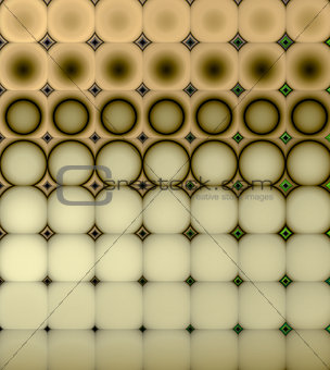 3d abstract tiled mosaic background in beige orange