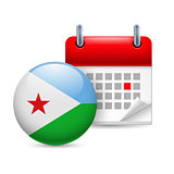 Icon of National Day in Djibouti