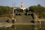 Temple by a river in Maharashtra, India
