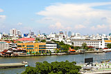 View of the Chao Praya River in Bangkok, taken from the top of W
