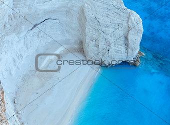 Beach with white sand (Zakynthos, Greece)