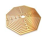 Golden maze isolated