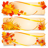 Autumn banners.