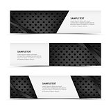 Abstract metal dynamic horizontal banners