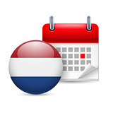 Icon of National Day in Netherlands