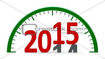 Clock dial 2015, half