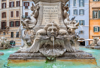 Fountain of Pantheon. Rome, Italy.
