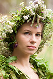 Flowers Woman Wreath