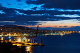 A view of the city of Vigo after sunset. Galicia, Spain