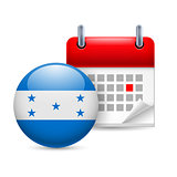 Icon of National Day in Honduras