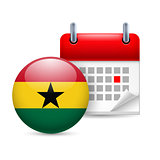Icon of National Day in Ghana