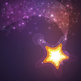 Shining stars background