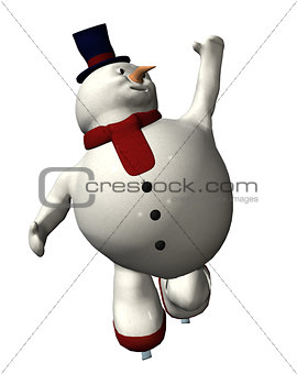 Skating Snowman